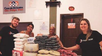 Movidesk doa mil quilos de alimentos para 5 instituições carentes de Blumenau