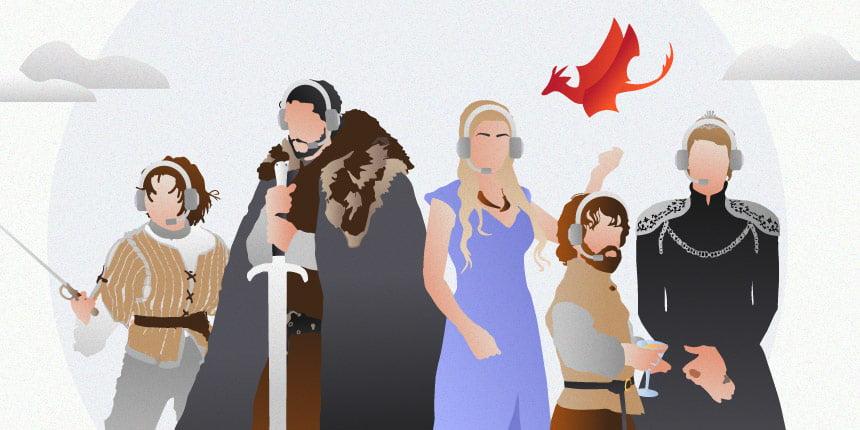 Time de atendimento de Game of Thrones