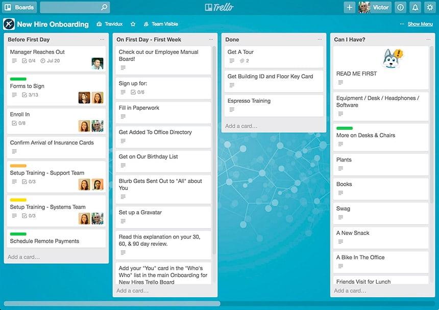 Exemplos de ferramentas de gestão de projetos
