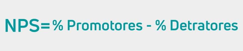NPS = % Promotores - % Detratores
