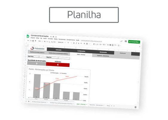 [Planilha] Controle de reclamações de clientes
