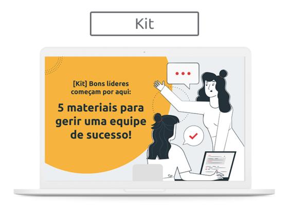 [Kit] Bons líderes começam por aqui: 5 materiais para gerir uma equipe de sucesso