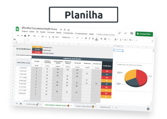 [Planilha] Calculadora Health Score